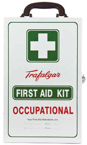 First Aid Kit - Workplace WM1 National Code of Practice Wall Mount Trafalgar Metal Cabinet