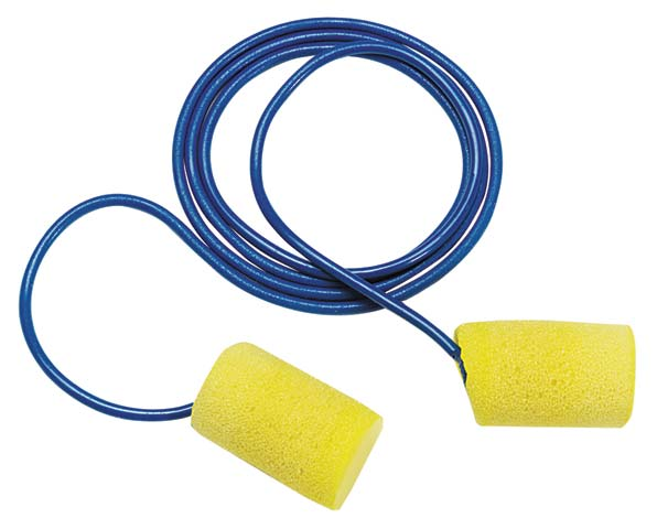 Earplug - Disposable EAR Classic 311-1101 Barrel Corded Yellow (CL3 - 21dB)