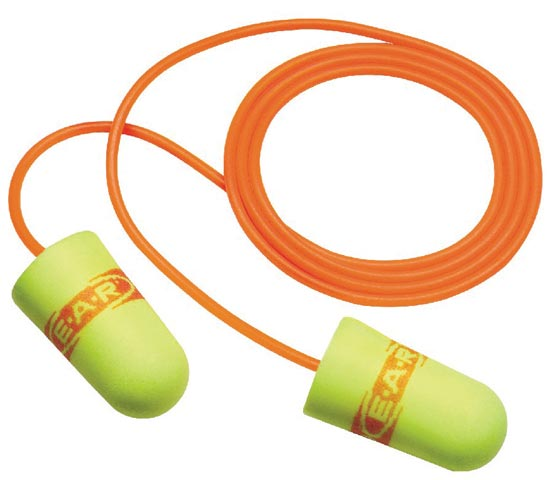 Earplug - Disposable EAR SuperFit 311-1254 Corded Reg Yellow (CL4 - 24dB)