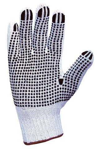 Glove - Poly/Cotton Knitted ProChoice Polka Dot Palm - Mens