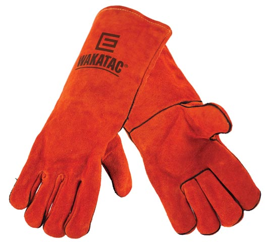 Glove - Leather Welders 'Wakatac' Lined c/w Kevlar Stitching 406mm