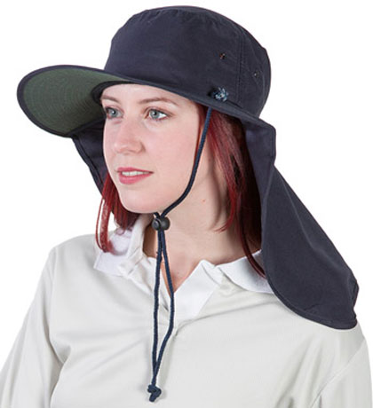 Hat - Uveto Tammin Polyester c/w Neck Flap/Neck Strap & Toggle