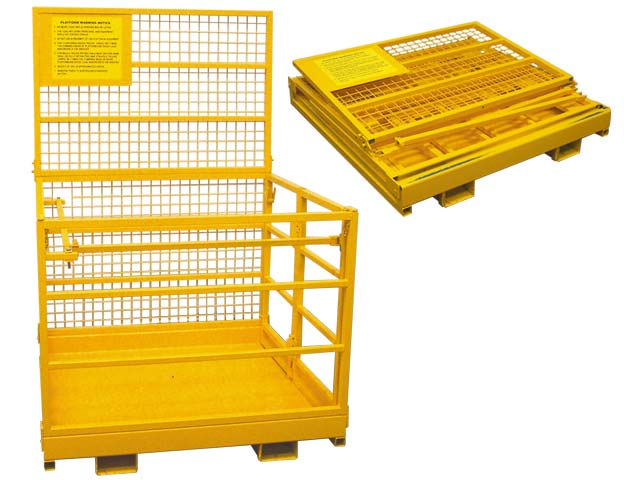 Forklift Cage - Collapsable No Anchorage Point 1.2M x 1.2M x 1.0M