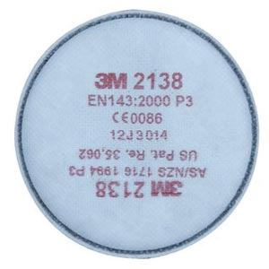 Filter - 3M Disc 2138 GP2/GP3  Particulate/Organic Vapour/Acid Gas 2000 Series