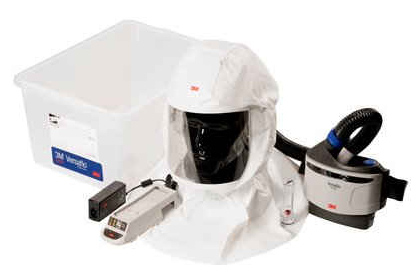 Respirator Kit - Headcover PAPR 3M Versaflo S-433 c/w Versaflo Turbo/Hose/Charger & P3 Filter