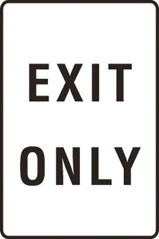 Sign - Metal 'Exit Only' 450 x 600