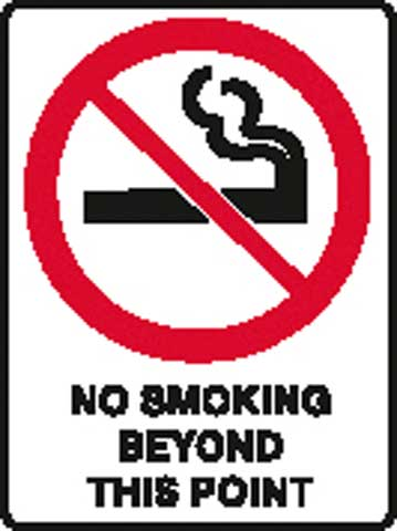 Sign - Poly 'No Smoking Beyond This Point' 450 x 600