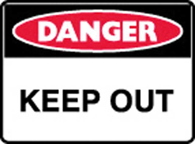 Sign - Poly Danger 'Keep Out' 600 x 450