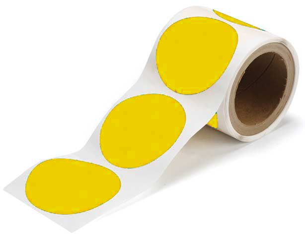 Tape Dots - Polyester Indoor Floor Marking Toughstripe 89mm - Yellow
