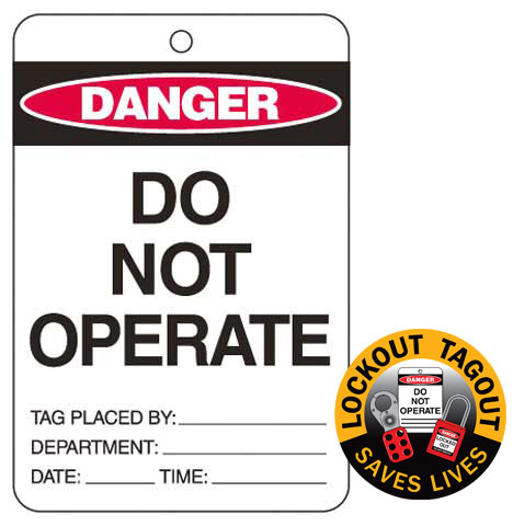 Tag - Danger 'Do Not Operate'  Poly 150mm x 100mm