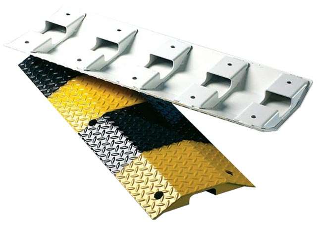 Speed Hump - Steel Body Slo-Motion Heavy Duty 6mm Plate 1.0M - Black/Yellow