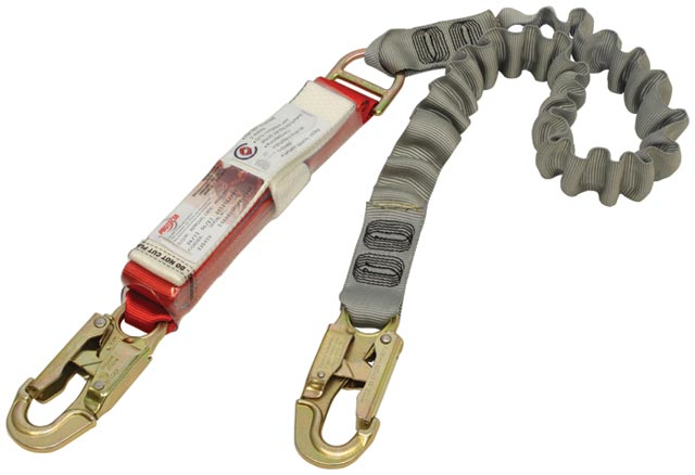 Lanyard - Protecta Shock Absorbing Single Tail Elasticised Web Lanyard 2.0M c/w 2 Snap Hooks