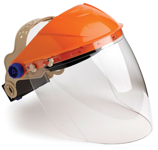 Face Shield - Clear ProChoice ABS Browguard c/w AF High Impact P/C Visor 405mm x 205mm