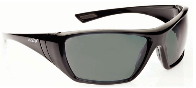Spectacle - Polarised Grey/Green Bollé Hustler Black Frame