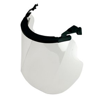 Visor - Clear Peltor HI Polycarbonate Anti-Fog/Anti-Scratch c/w Browguard & Adaptors 455mm x 247mm