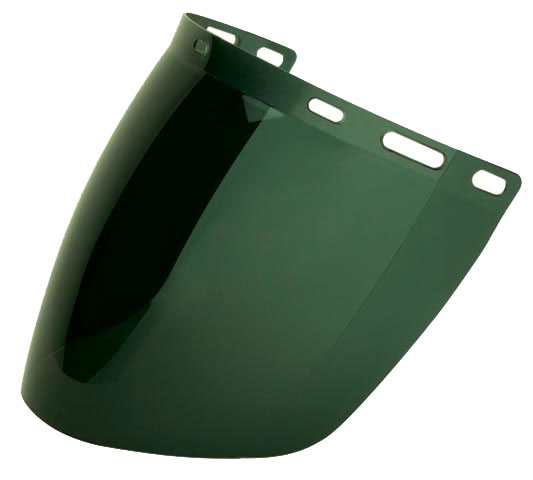 Visor - Green SH 5 ProChoice Polycarbonate AF 405mm x 205mm - Oxy Welding
