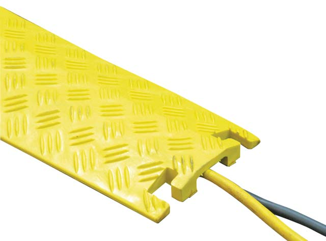 Cable Protector - Pedestrian 1 Channel HI VIS Yellow 1M