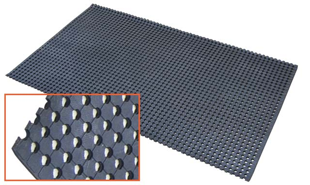 Mat - matTEK Utility Matting Wet Area Safety Mat 900mm (W) - Black