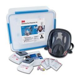 Respirator Kit - Full Face Asbestos/Dust 3M 6000 Series c/w P3 Filters - L