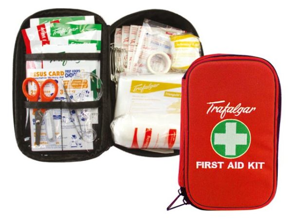 First Aid Kit - Passenger Vehicle PV1 Trafalgar Soft Case Red 140 x 210 x 60mm