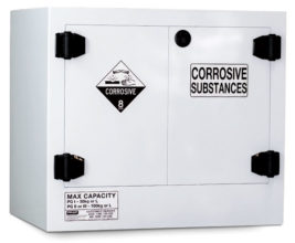 Cabinet - Corrosive Substance Storage Poly Pratt 2 Door/1 Shelf Black - 100L