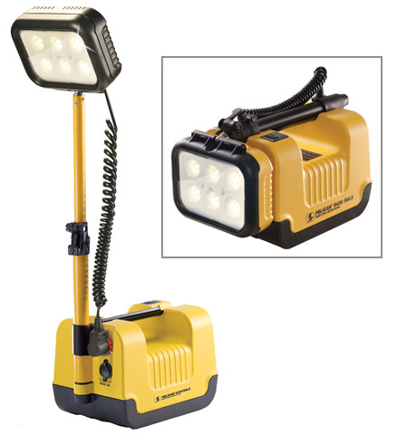 Light - Remote Area System Pelican 9430 Single Head Rechargeable - Yellow