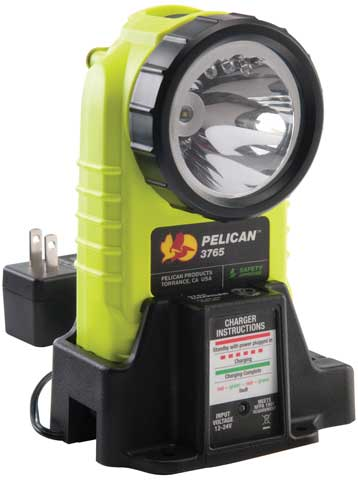 Torch - Pelican 3765 LED Rechargeable Flashlight 4 AA Batteries - Yellow