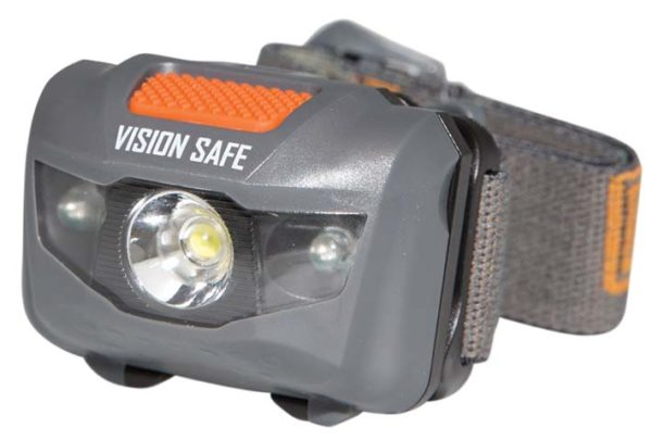 Light - Headlight Adjustable VisionSafe Multi Function Red/White c/w 3 AAA Batteries