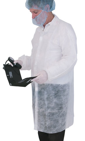 Lab Coat - Disposable PP Pro-Val 30gsm No Pockets 1000mm - White