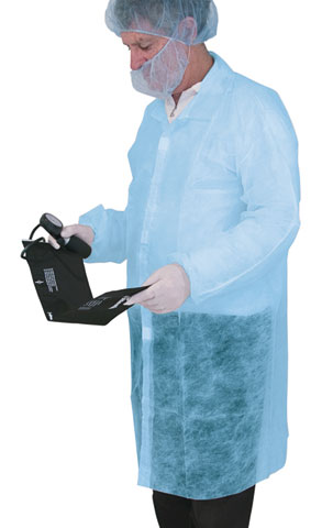 Lab Coat - Disposable PP Pro-Val 30gsm No Pockets 1000mm - Blue