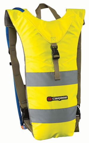Back Pack - Hydration Caribee Nuke HI VIS Slim Line Design 3L - Yellow