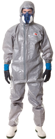 Overall - Disposable Anti-Static Laminate 3M 4570 Spray/Dust/Splash Type 3/4/5/6 Zip Front c/w Hood Grey - 3XL