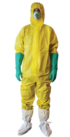 Overall - Disposable Pro-Val Hazguard CHEM 3 Polypropylene Triple Layer Type 3/4/5 Yellow - 2XL
