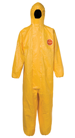 Overall - Disposable Chemical Dupont Tychem C Type 3/4/5/6 c/w Hood Yellow - 3XL