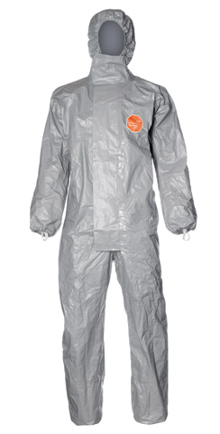 Overall - Disposable Dupont Tychem 6000F Type 3/4/5/6 c/w Hood Grey - 3XL
