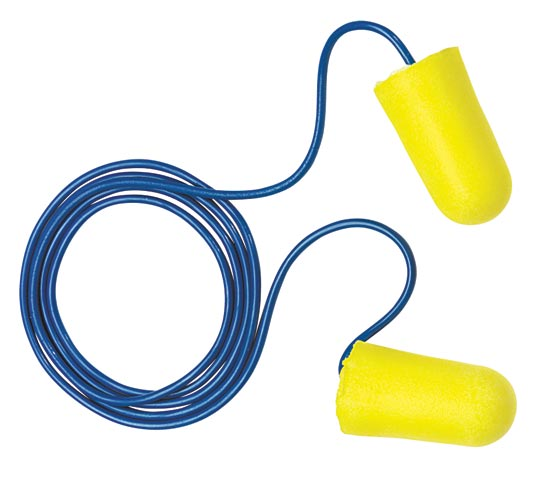 Earplug - Disposable - NA- (REFER TO EP3121224 FOR CORRECT CODE) EAR Taperfit 2 Plus 312-1224 Corded Yellow (CL5 - 26dB)