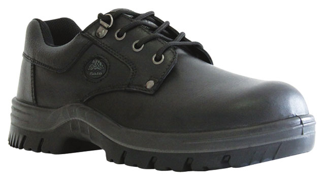 Shoe - Safety Mens Bata Neptune 715-60511 Lace Up DD PU Sole Black - 13