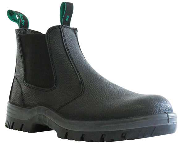 Boot - Safety Mens Bata Hercules 705-60514 Elastic Sided DD PU Sole Black Rambler - 13