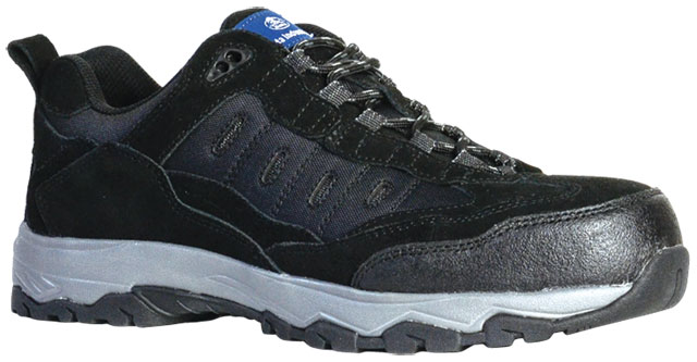 Shoe - Safety Mens Bata Sportsmate Fury 851-62687 Lace Up Suede/Mesh Jogger EVA/Rubber Sole Black - 13