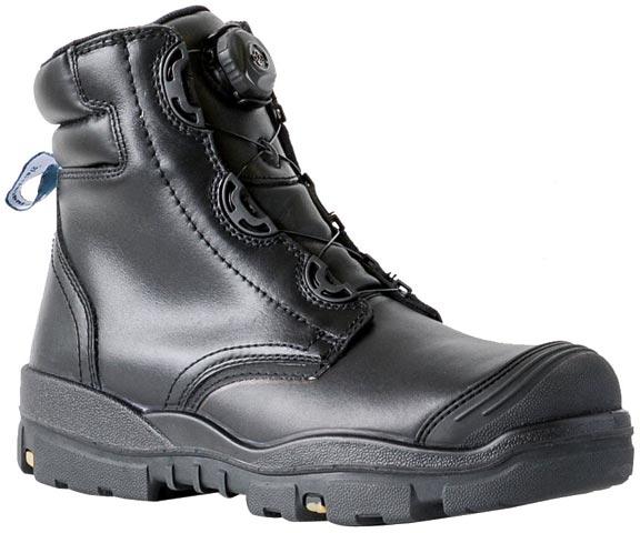 > Boot - (NLA) Safety Mens Bata Helix Ranger 704-65143 BOA Lace Up PU/Rubber Sole c/w Scuff Cap Black - 14