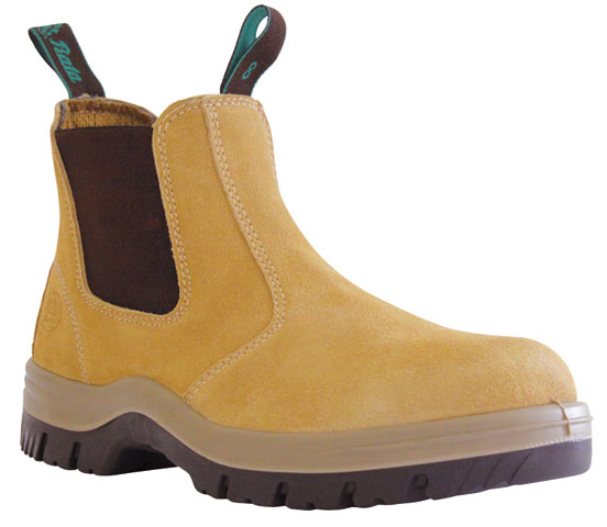 Boot - Safety Mens Bata Mercury 703-80514 Elastic Sided DD PU Sole Suede Sand - 13
