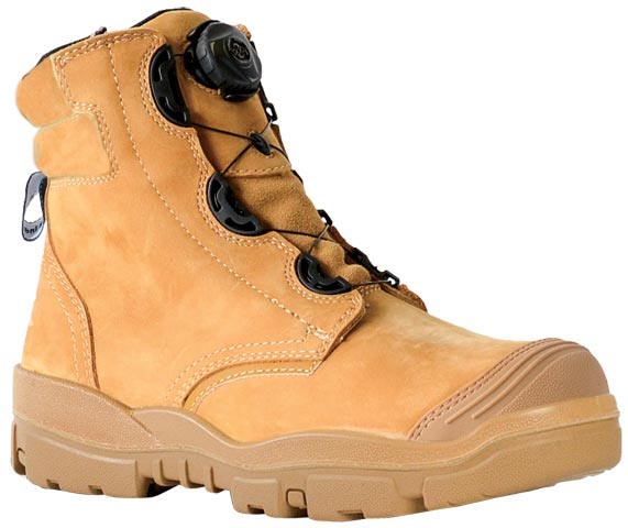 Boot - Safety Mens Bata Helix Ranger 706-85139 BOA Lace Up PU/Rubber Sole c/w Scuff Cap Nubuck Wheat - 14