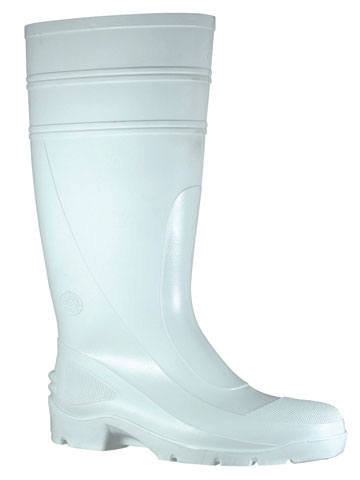Gumboot - Safety Mens Bata Utility 400 892-11090 PVC Knee Boot 400mm White - 12
