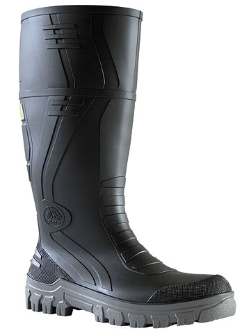 Gumboot - Safety Mens Bata Jobmaster 3 892-22292 PVC Knee Boot 400mm c/w Steel Mid Sole Black/Grey - 14