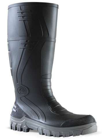 Gumboot - Safety Mens Bata Jobmaster 3 892-62290 PVC Knee Boot 400mm Black/Grey - 14