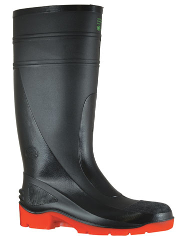 Gumboot - Safety Mens Bata Utility 400 892-65190 PVC Knee Boot 40mm Black/Red - 12