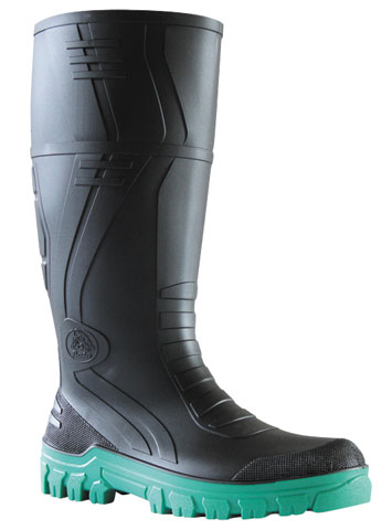 Gumboot - Non Safety Mens Bata Jobmaster 3 892-67280 PVC Knee Boot 400mm Black/Green - 14