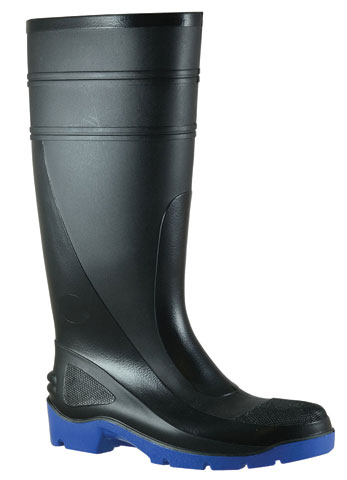 Gumboot - Safety Mens Bata Utility 400 892-69092 PVC Knee Boot 400mm c/w Midsole Black/Blue - 12