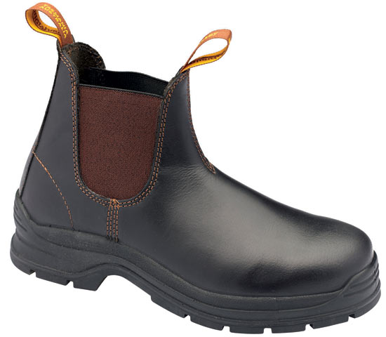 Boot - Elastic Sided Safety Blundstone  Waxy Leather PU/TPU Sole Brown - 13