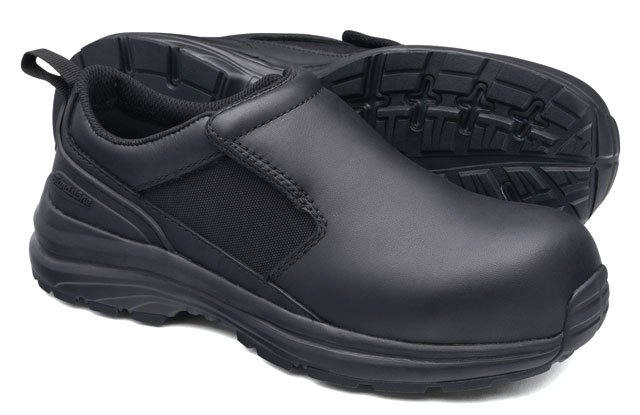 Shoe - Slip On Safety Womens Blundstone 886 Full Grain Leather EVA/Rubber Sole Black - 11